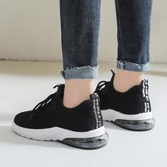 Mulheres Malha Casual Atlético com Aplicação de renda sapatos