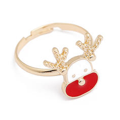 Lovely Alloy Rings Christmas Jewelry