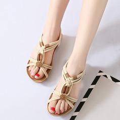 De mujer Ante Tipo de tacón Sandalias Encaje Solo correa con Hebilla Material Block zapatos