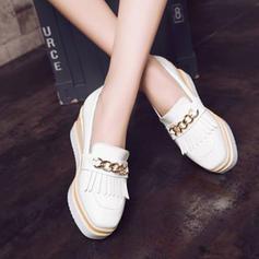 Femmes Similicuir Chaussures plates Plateforme avec Tassel chaussures