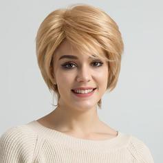 Kinky Rovný Mix pravých vlasů Paruky z pravých vlasů 80g