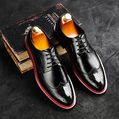 Lace-up Brogue Alkalmi Lakkbőr Férfi Férfi Oxfords
