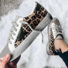 Women's PU Casual Outdoor With Animal Print Lace-up shoes