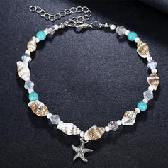 Cool Boho Alloy With Shell Starfish Anklets