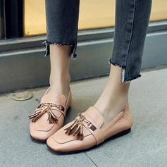 Femmes PVC Talon plat Chaussures plates avec Chaîne Tassel chaussures