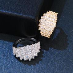 Unique Brass Zircon With Zircon Women's Fashion Rings