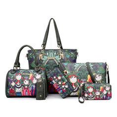 Charmen/Klassisk Tygväskor/Crossbody Väskor/Axelrems väskor/Boston Väskor/Bag Súpravy