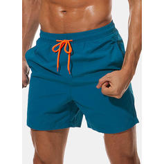 Men's Solid Color Swim Trunks Swimsuit