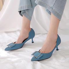 Donna Pelle microfibra Tacco a spillo Stiletto con Fibbia scarpe