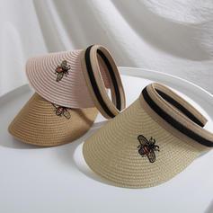 Dames Le plus chaud Paille salée Chapeau de paille/Casquette de baseball/Chapeaux de plage / soleil