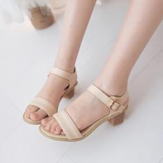 Femmes PU Talon stiletto Sandales À bout ouvert avec Boucle chaussures