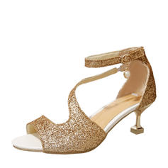 Women's Sparkling Glitter Stiletto Heel Sandals Pumps With Sequin shoes