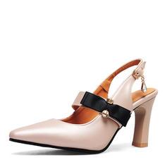Femmes PU Talon stiletto Sandales Escarpins Escarpins avec Bowknot chaussures