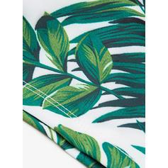 Men's Leaves Lined Padded Swim Trunks