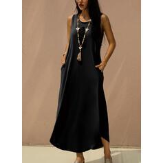 Print Sleeveless Shift Tank Casual Maxi Dresses