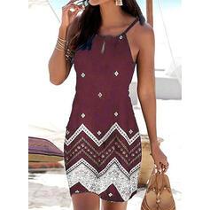 Impresión Sin mangas Cubierta Sobre la Rodilla Casual/Vacaciones Vestidos