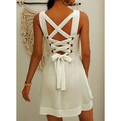 Solid/Backless Sleeveless A-line Above Knee Little Black/Sexy/Casual/Vacation Skater Dresses