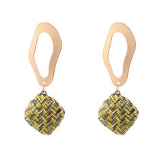 Stylish Cloth Alloy Women's Fashion Earrings (Set of 2)