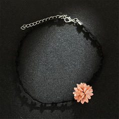 En forme de fleur Tissu Femmes Colliers