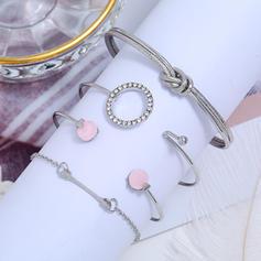 Con estilo Aleación Diamantes de imitación con Rhinestone De mujer Pulseras (Juego de 4)
