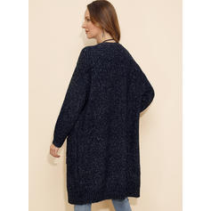 Solid Collarless Cardigan