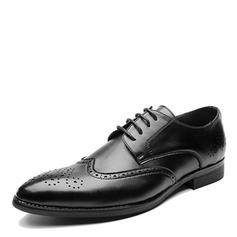 Lace-up Brogue Dress Shoes Microfiber Leather Men's Men's Oxfords