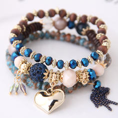 Heart Shaped Alloy Resin Women's Fashion Bracelets (Set of 3)