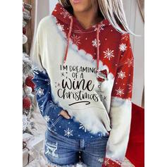 Sequins Figure Pockets Long Sleeves Christmas Sweatshirt