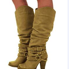 Γυναίκες Λείαντο Χοντρό φτέρνα Γοβάκια Μπότες Με Βάφλες παπούτσια