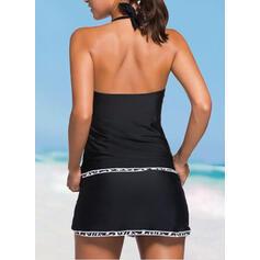 Tinta unita A bikini Sexy Stile vintage Taglia grossa Tankini Costumi Da Bagno