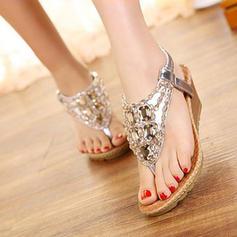Vrouwen PU Wedge Heel Sandalen Wedges Peep Toe met Anderen schoenen