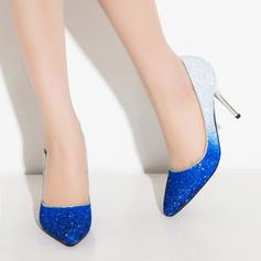 Donna Glitter scintillanti Tacco a spillo Stiletto Punta chiusa con Altrui scarpe