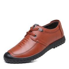 Hommes Modern Style Chaussures plates Vrai cuir avec Dentelle Modern Style