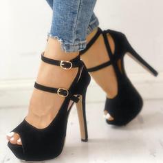 Жіночі ПУ Шпилька Насоси з Пряжка Прив'язка до стрічки взуття