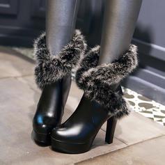 Femmes Similicuir PU Talon stiletto Escarpins Plateforme Bottes chaussures