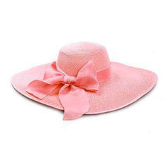 Ladies' Glamourous Raffia Straw With Bowknot Beach/Sun Hats