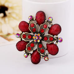 Fashionable Alloy Rhinestones Resin Ladies' Fashion Brooches (Sold in a single piece)
