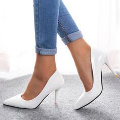 Mulheres PU Salto agulha Bombas Saltos com Cor sólida sapatos
