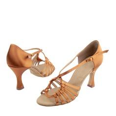 Women's Latin Heels Sandals Satin Latin