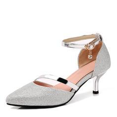 Femmes Similicuir Talon stiletto Escarpins Bout fermé Mary Jane avec Strass Boucle Autres chaussures