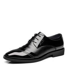 Cap Toes Lace-up Dress Shoes Leatherette Men's Men's Oxfords