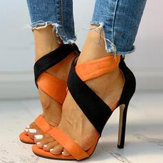 Naisten Mokkanahka Piikkikorko Sandaalit Peep toe kengät
