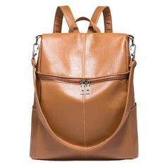 Solid Color PU Shoulder Bags/Backpacks