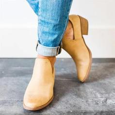 Femmes Suède Talon bottier Bottines chaussures