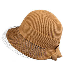 Ladies' Simple/Nice/Fancy Polyester With Tulle Beach/Sun Hats