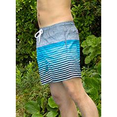 Men's Splice color Lined Board Shorts
