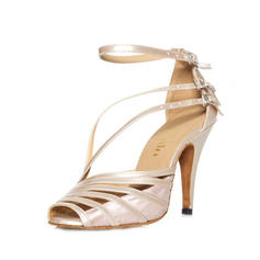 Women's Latin Heels Sandals Leatherette With Buckle Latin