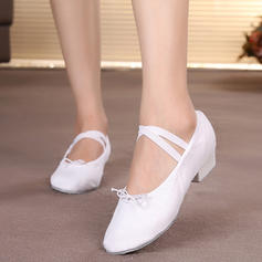 Women's Ballet Belly Flats Canvas Ballet