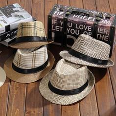 Pánské Nejžhavější Akryl/Slaná sláma Slaměný klobouk/Plážové Klobouky/Panama Hat