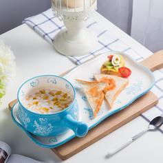 Floral Novelty Porcelain Dinnerware Sets (Set of 2)